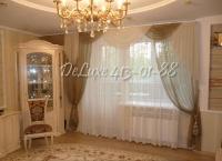Легкие шторы с ламбрекеном