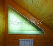 Плиссе на скошенное окно в спальню