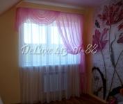 Розовые шторы в детскую для девочки